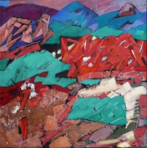 Antonius van der Pas-Malerei-80er-00-263-Paysage 1984
