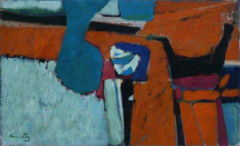 Antonius van der Pas-Malerei-60er-00-074-Erinnerung an Knossos 1965