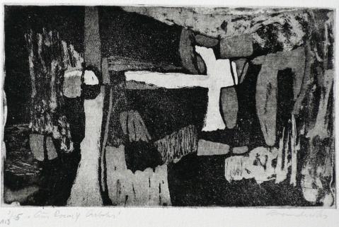 Antonius van der Pas-Radierungen Abstrakt-00-2250-Aus Rocas y Arboles-undatiert