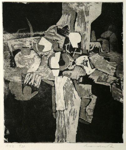 Antonius van der Pas-Radierungen Abstrakt-12-2340-Aus Arboles-undatiert