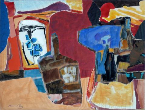Antonius van der Pas-Collage-60er-06-033-Ohne Titel 196x