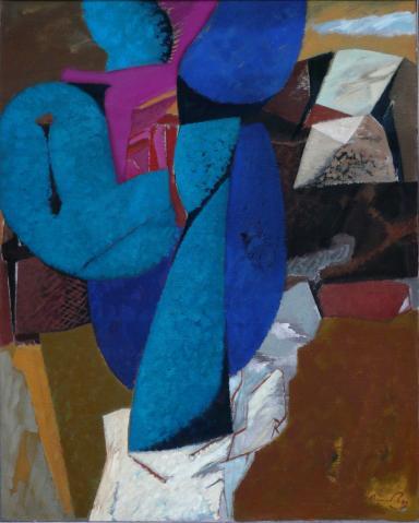 Antonius van der Pas-Malerei-70er-05-176-Arbre et Roc 1975