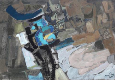 Antonius van der Pas-Malerei-70er-11-368-Aus Tunis 1970