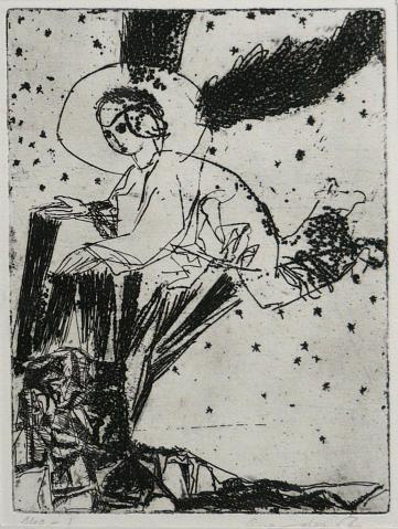 Antonius van der Pas-Radierungen Gegenständlich-03-2079-Engel-undatiert
