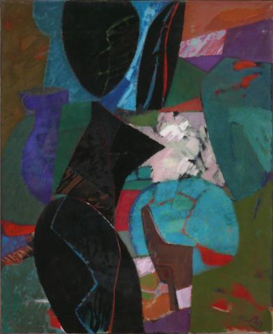 Antonius van der Pas-Malerei-70er-02-108-Paysage Provence II 1974
