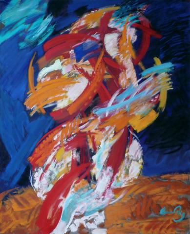 Antonius van der Pas-Malerei-90er-00-032-Inferno Ölbrand 1991