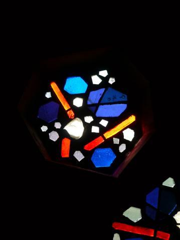 Antonius van der Pas-Betonglasfenster-Kapelle des Altenheims der Kirche Herz Jesu-14-958-1970