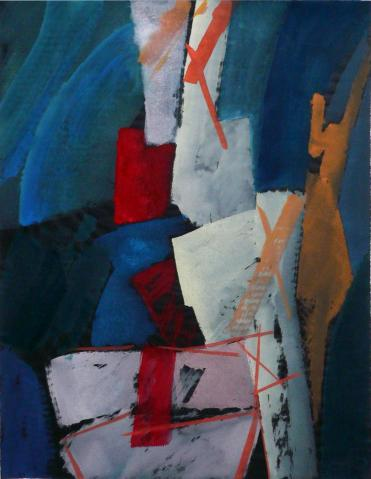 Antonius van der Pas-Gouachen-70er-11-473-Roc 1976