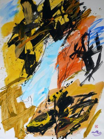 Antonius van der Pas-Gouachen-90er-00-1398-Aus Rocas 1996