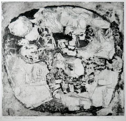 Antonius van der Pas-Radierungen Abstrakt-00-2200-Roca Struktur-undatiert