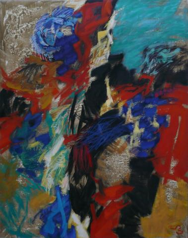 Antonius van der Pas-Malerei-80er-13-245-Aus Bretagne 1989