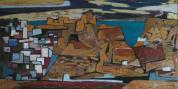 Antonius van der Pas-Malerei-50er-10-173-Pueblo de Costa 1958