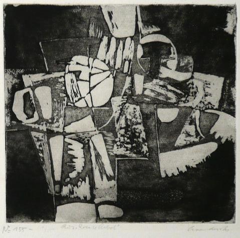 Antonius van der Pas-Radierungen Abstrakt-00-2360-Aus Roca y Arbol-undatiert