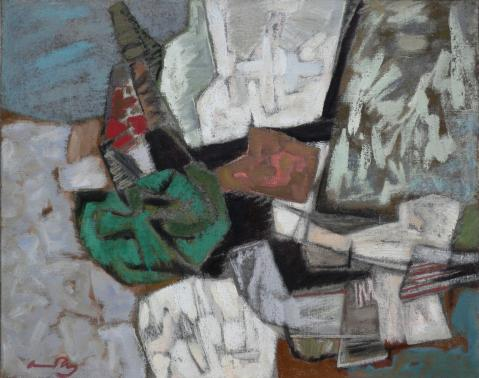 Antonius van der Pas-Malerei-60er-00-109-Aus Carara 1966