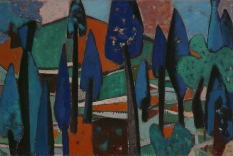 Antonius van der Pas-Malerei-50er-06-078-aus Olympia 1955