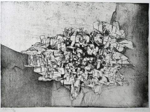 Antonius van der Pas-Radierungen Abstrakt-05-2220-undatiert