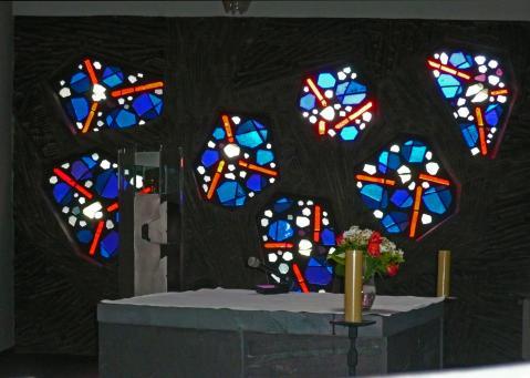 Antonius van der Pas-Betonglasfenster-Kapelle des Altenheims der Kirche Herz Jesu-03-966-1970