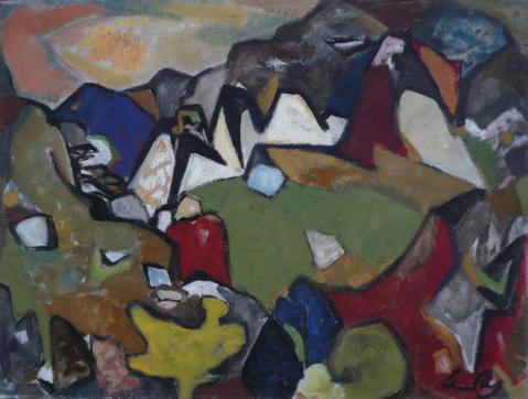 Antonius van der Pas-Malerei-50er-02-008-Aus dem Peleppones 1956