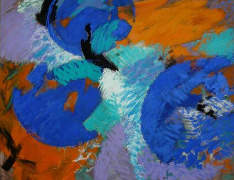 Antonius van der Pas-Malerei-90er-13-258-Aus Kosmos 1997