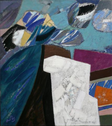 Antonius van der Pas-Malerei-70er-07-180-Carnac Bretagne 1974