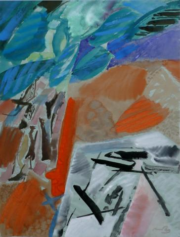 Antonius van der Pas-Gouachen-70er-04-395-Tropic 1977