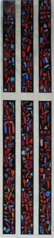 Antonius van der Pas-Betonglasfenster-St Marien Empfängnis Kirche Neersen-Erster Entwurf-00-092-1961