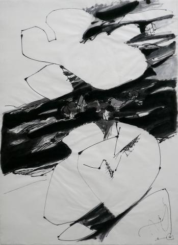 Antonius van der Pas-Zeichnungen-70er-03-1622-Filzstift Gouache-undatiert