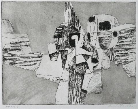 Antonius van der Pas-Radierungen Abstrakt-10-2310-undatiert