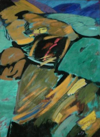 Antonius van der Pas-Malerei-80er-03-061-Oberbergische Landschaft 1983