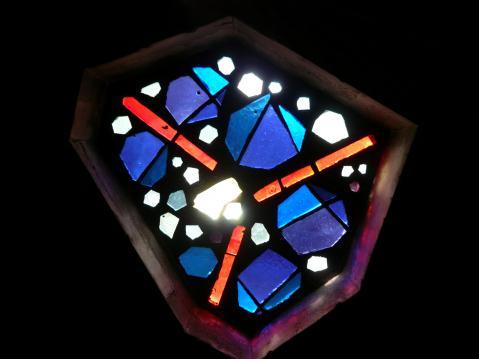 Antonius van der Pas-Betonglasfenster-Kapelle des Altenheims der Kirche Herz Jesu-11-952-1970