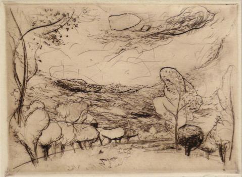 Antonius van der Pas-Radierungen Gegenständlich-09-2105-Landschaft 1948