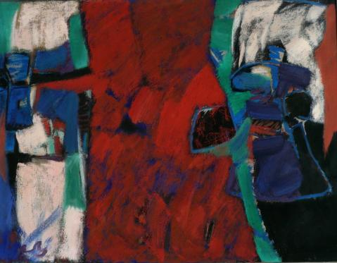 Antonius van der Pas-Malerei-60er-02-025-Roca y Arbol 1969