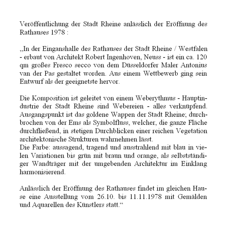 Architekt Rheine rathaus rheine antonius der pas